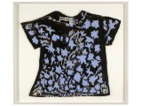 Untitled (Black Shirt with Purple Flowers)